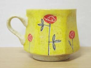 黄濃赤バラ 六角コーヒーC/S9
