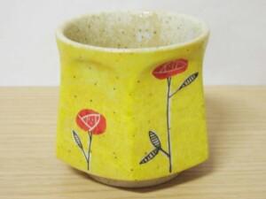 黄濃赤バラ 六角コーヒーC/S10