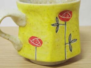 黄濃赤バラ 六角コーヒーC/S12