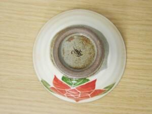 粉引バラ ご飯茶わん(赤)6