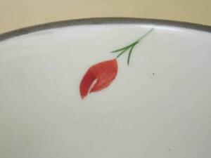 粉引バラ 湯呑み(赤)6